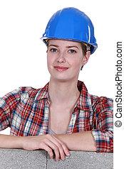 női, szerkesztés munkás
