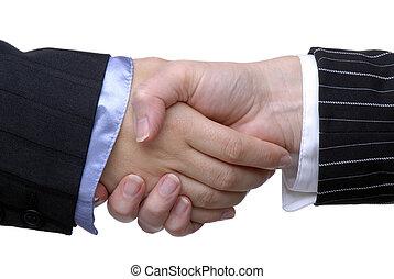 nők, kézfogás