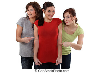 nők, látszik látszik, -eik, friend's, új, alak