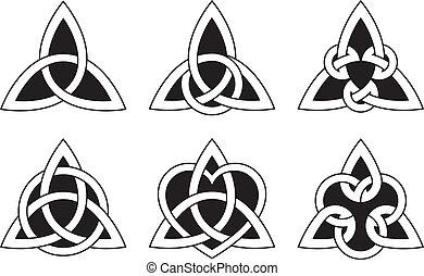 nœuds, celtique, triangle