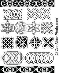 nœuds, celtique, vecteur
