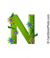 n, 不思議の国, アルファベット