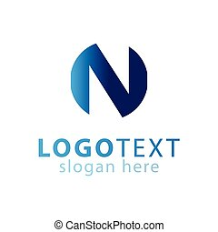 N Abstract Initial letter logo vector