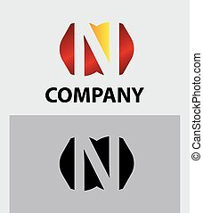 N company vector logo and symbol