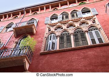 n, historique, palais, Vérone