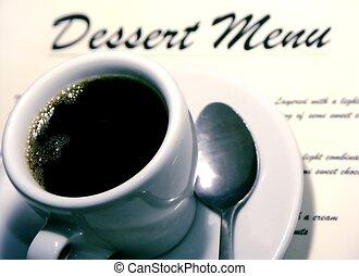 n, kaffe, efterrätt