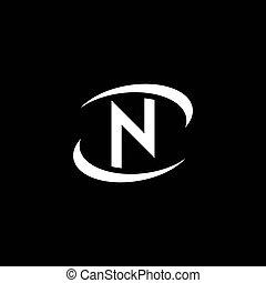 N Letter logo business
