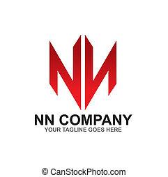 N letter logo design vector template