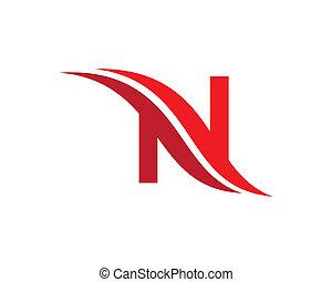 N letter symbol illustration design