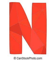 N red alphabet vector letter