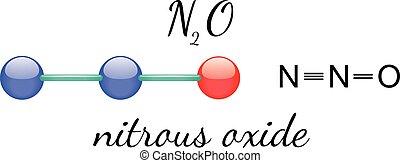 N2O nitrous oxide molecule - N2O nitrous oxide 3d molecule...