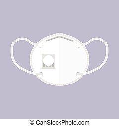N95 Mask, Wuhan Virus or Coronavirus related vector illustration