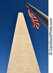 nação, washington, capital, nós, monumento