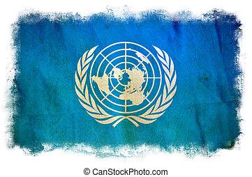 nações unidas, grunge, bandeira