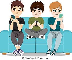 nałóg, smartphone