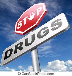 nałóg, zatrzymywać, narkotyk