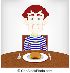 naście, burger., głodny