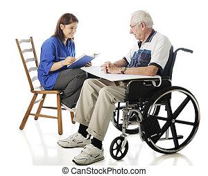 naście, ochotnik, czyta, do, przedimek określony przed rzeczownikami, starszy