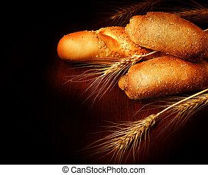 na, czarnoskóry, bread