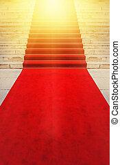 na, czerwony dywan, vip, i, znakomitości, pojęcie