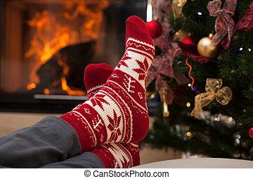 na, kerstmis, verslappen