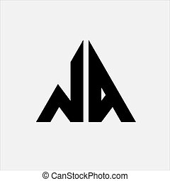 na, logo, trójkąt, litera