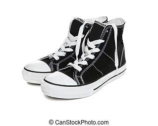 na, (tennis, shoes), sneakers, biały