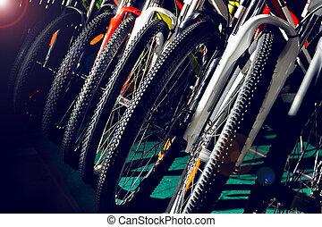 na wolnym powietrzu, kolarstwo, barwne światło, od-drogi, bycicles, nieszczelność, profesjonalny