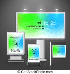 na wolnym powietrzu, projektować, reklama