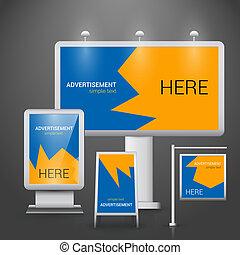na wolnym powietrzu, reklama, szablon