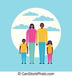 na wolnym powietrzu, rodzina, razem