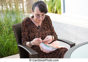 naaiwerk, als, een, hobby