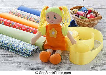 naaiwerk, ambacht, velen, voorwerp, naaiwerk, accessoires, werkplaats, naaister