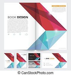 naam, kaart, abstract, dekking, vector, ontwerp, flyer,...