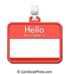 naam, kleurrijke, ruimte, label, leeg, kopie, rood