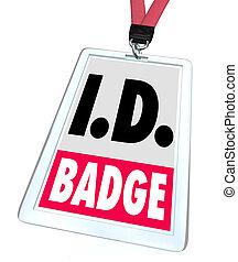 naam, toegang, label, identificatie, geloofsbrieven, badge, identificatie