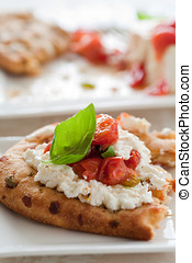 Naan bread with oven roasted ricotta - Bread with ricotta,...