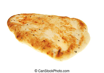Naan bread isolated on white