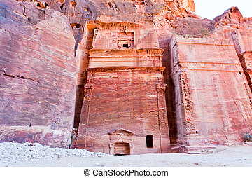 Nabatean tombs in the Siq, Petra - Nabatean tombs in stone...