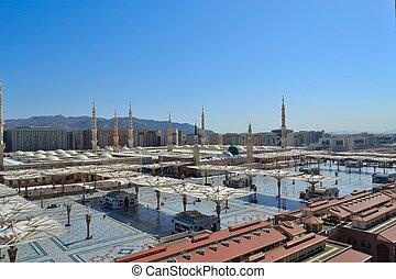 nabawi, meczet, światło dzienne, medyna