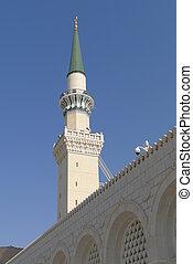 nabawi, meczet, minaret