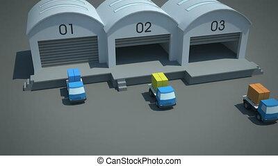 nabe, und, speiche, cross-docking