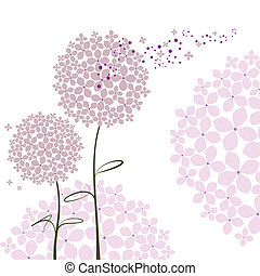 nach, abstraktní, květ, hortenzie, jaro