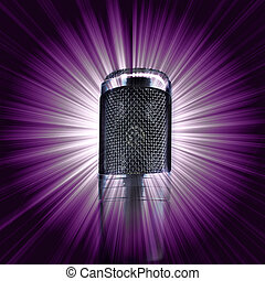 nach, mikrofon, zlatý hřeb impulzivní šum