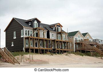 nach, orkan, schaden, rekonstruktion, daheim, sandstrand