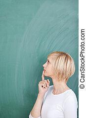 nachdenklich, weiblicher student