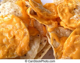 Nacho Cheese - A delicous platter of nachos and cheese