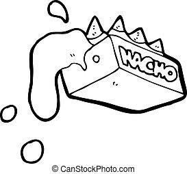 nachos, 漫画, チーズが多い