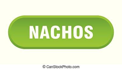 nachos button. nachos rounded green sign. nachos