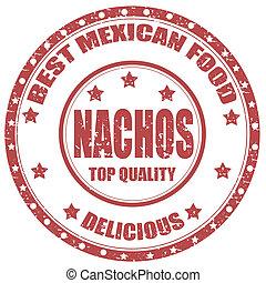 Nachos-stamp - Grunge rubber stamp with text Nachos-Best...